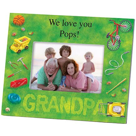 Personalized Photo Frame for Grandpa – Lawn Words Frame-361189