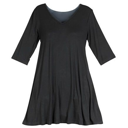 Black Tunic Top-361205