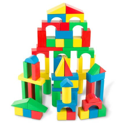 Melissa & Doug® 100-Piece Wood Blocks Set-361459