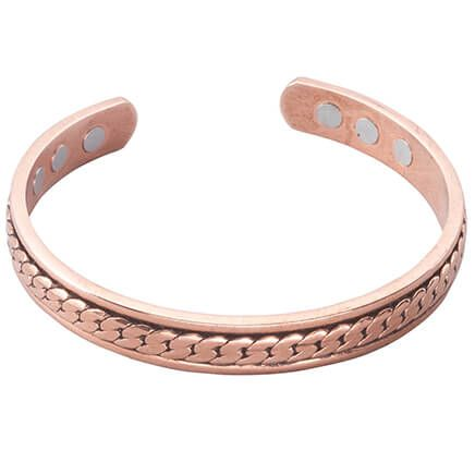 Magnetic Copper Antique braid Cuff-361568