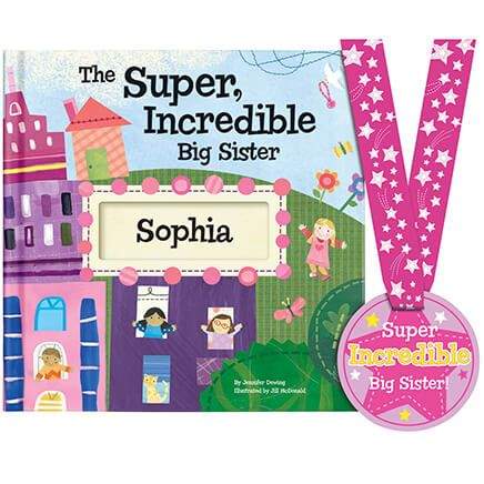 Personalized The Super Incredible Big Sister Book Storybook-361610