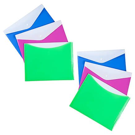 Large Poly Envelopes with Snap Closure Set of 6-361644