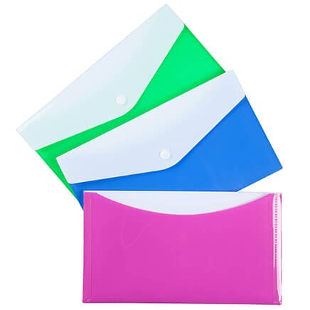 Small Poly Envelopes with Snap Closure Set/3-361645