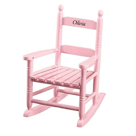 Personalized Pink Children's Rocker-361818