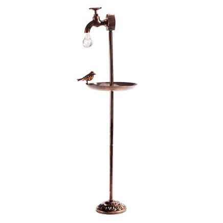 Solar Faucet with Bird Feeder-361821