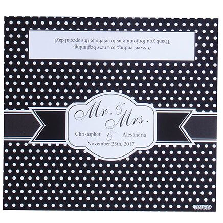 Personalized Candy Bar Dot Wedding Favor Wrapper, Set of 24-361839