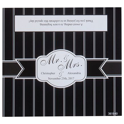 Personalized Candy Bar Wrappers Stripe Wedding, Set of 24-361840
