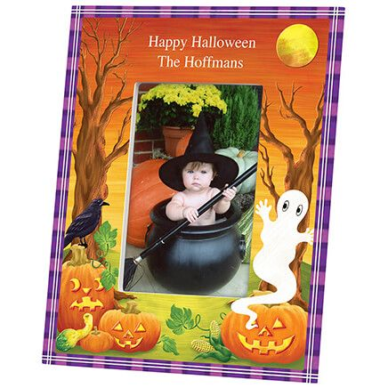 Personalized Haunted Harvest Halloween Photo Frame-361932
