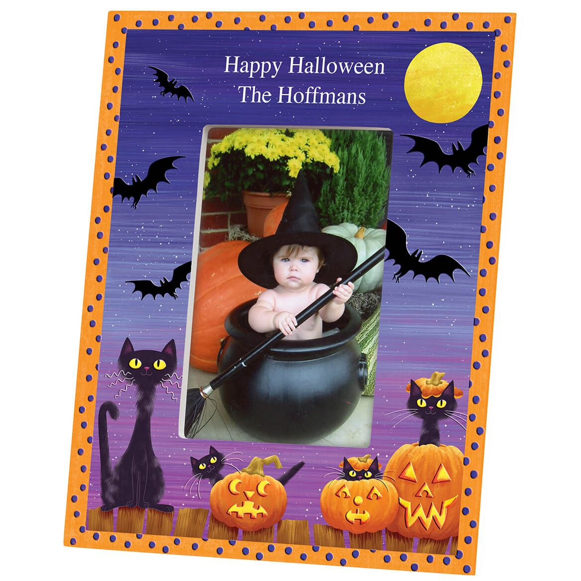 Personalized Cats, Bats and Boo Halloween Frame-361933