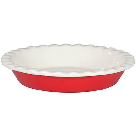 Red Ceramic Pie Plate-362028