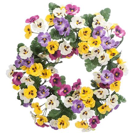 "14"" Pansy Wreath by OakRidge™-362068"