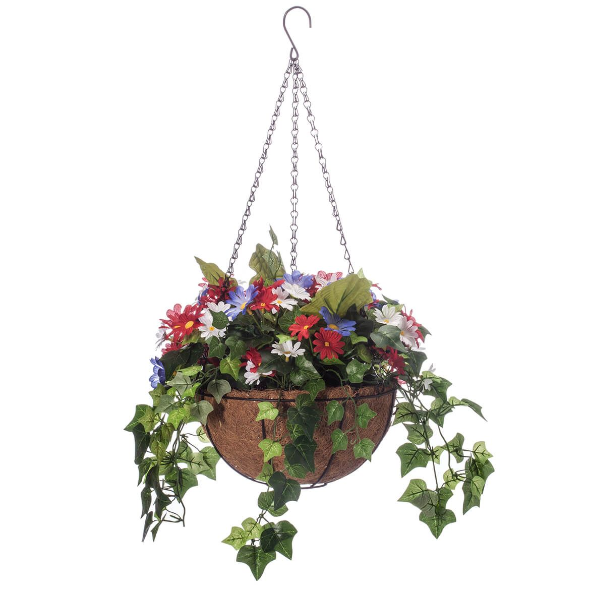 Daisy and Greenery Lighted Basket by OakRidge™-362225