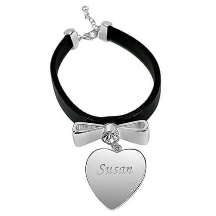 Personalized Leather Bracelet with Heart-362395