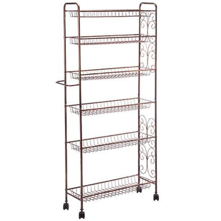 Rolling Antique Wire Storage Cart by Home Marketplace-362490