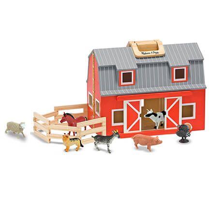 Melissa & Doug® Fold & Go Barn Set-362561