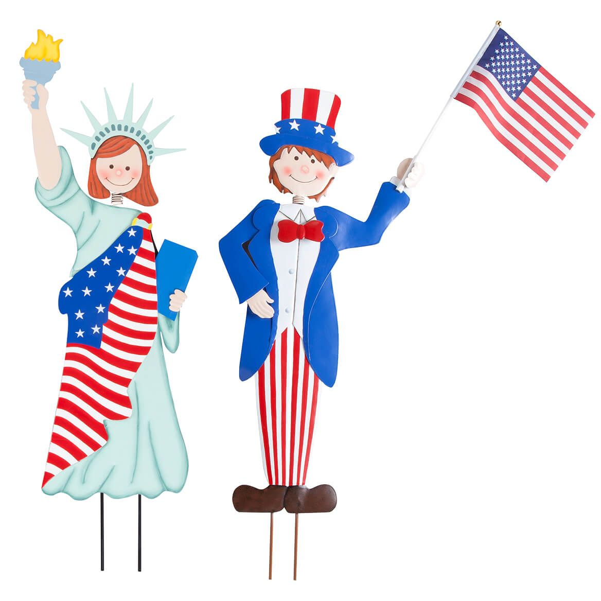 Metal Patriotic Boy and Girl by Fox River™ Creations-362584
