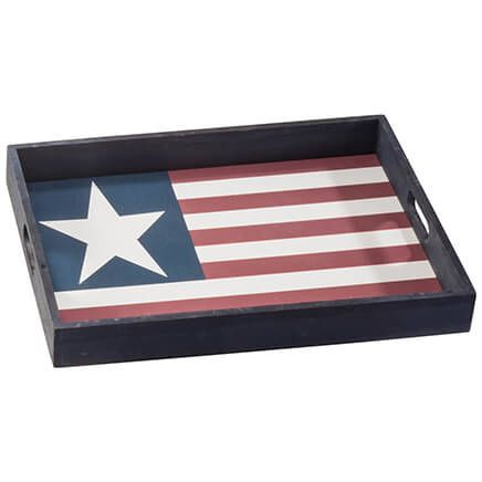 Stars & Stripes Wood Serving Tray-362609