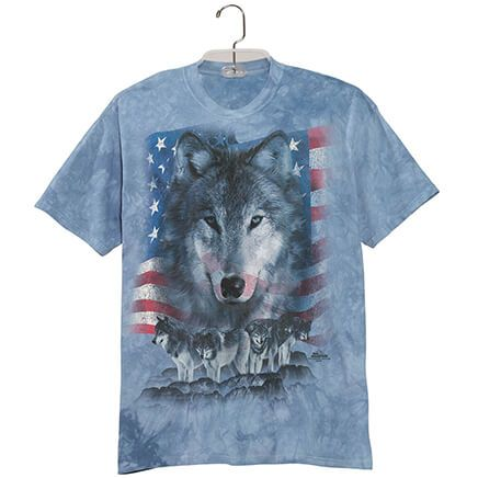 Patriotic Wolf Pack T Shirt-362816