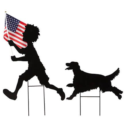 Patriotic Boy and Dog Stakes Set by Fox River Creations™-362881