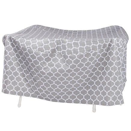 "Trellis Pattern Quilted Table Cover Round, 30""H x 84"" Dia.-362886"
