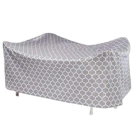 "Trellis Pattern Quilted Table Cover Oval, 108""L x 30""H x 84""-362887"