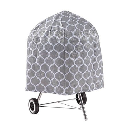 "Trellis Pattern Quilted Kettle Style Grill Cover, 23""H x 27""-362888"