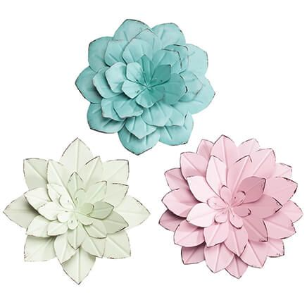 Metal Flower Wall Hangings Set/3 by Fox River Creations™-362912