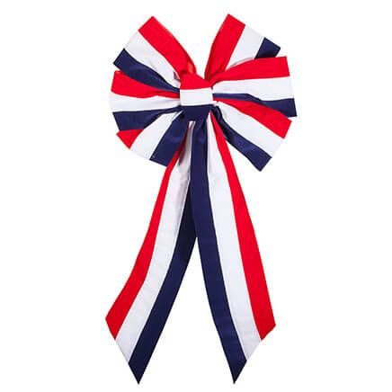 Striped Patriotic Indoor/Outdoor Bow-362917