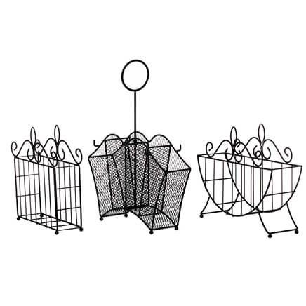 3 Piece Metal Serving Caddy Table Organizer Set-362923