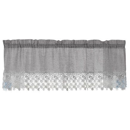Lillian Rod Pocket Macrame Valance-362990