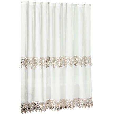 Lillian Macrame Shower Curtain-362996