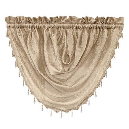 Whisper Crushed Satin Beaded Waterfall Valance-362999