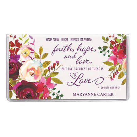 Personalized 2 Yr. Planner Faith Hope Love Floral-363219