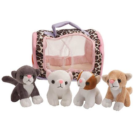 Meowing Kittens in Carrier, Set of 4-363297