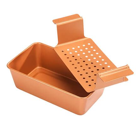 Copper Ceramic Meat Loaf Pan with Insert-363335