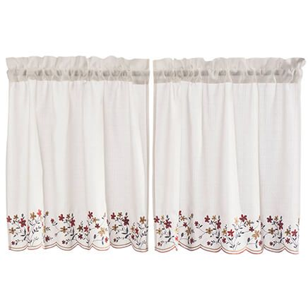 Floral Embroidered Tier Pair-363340