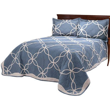 Sophie Tufted Quilt/Sham Twin Blue by OakRidge™-363425