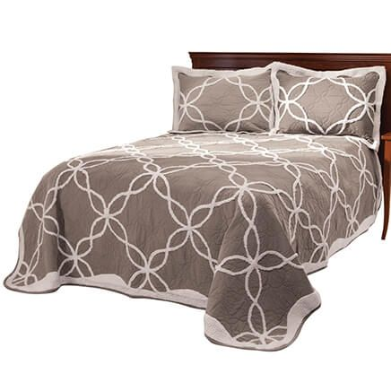 Sophie Tufted Quilt/Sham Full/Queen Taupe by OakRidge™-363430