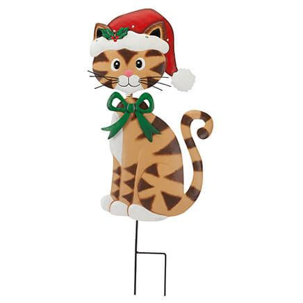 Metal Solar Christmas Cat Stake by Fox River™ Creations-363444
