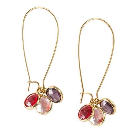 Hoop Earrings with Changeable Gems-363526