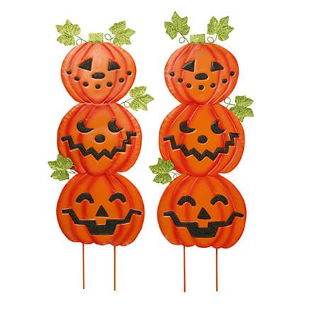 Jack-O-Lantern Metal Stakes by Fox River™ Creations, Set of 2-363549