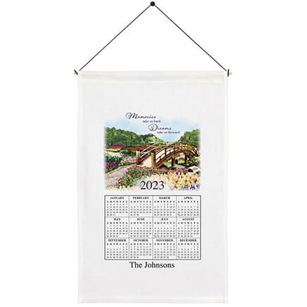 Personalized Tranquility in Nature Calendar Towel-363759