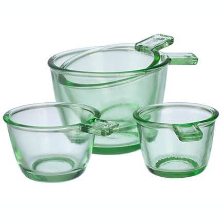 Nostalgia Glass Dry Measuring Cups by Home Marketplace, Set of 4-363813