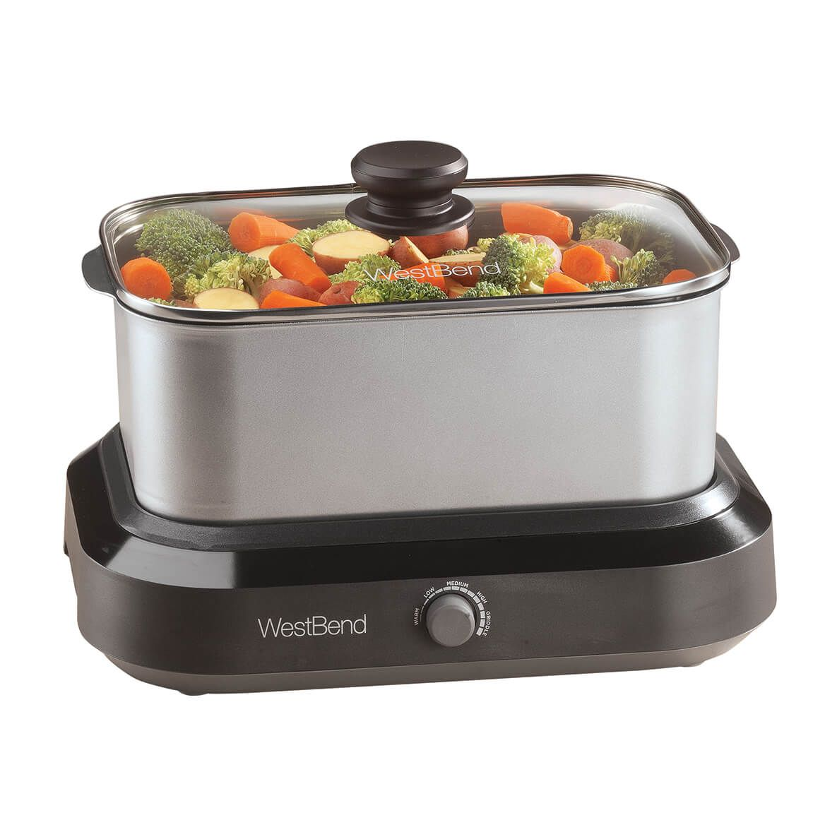 West Bend® 5 Qt. Versatility Cooker™ Stainless Steel-363834
