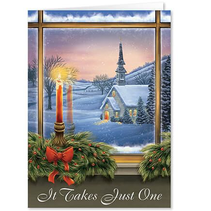 Personalized It Takes Just One Christmas Card Set of 20-363926