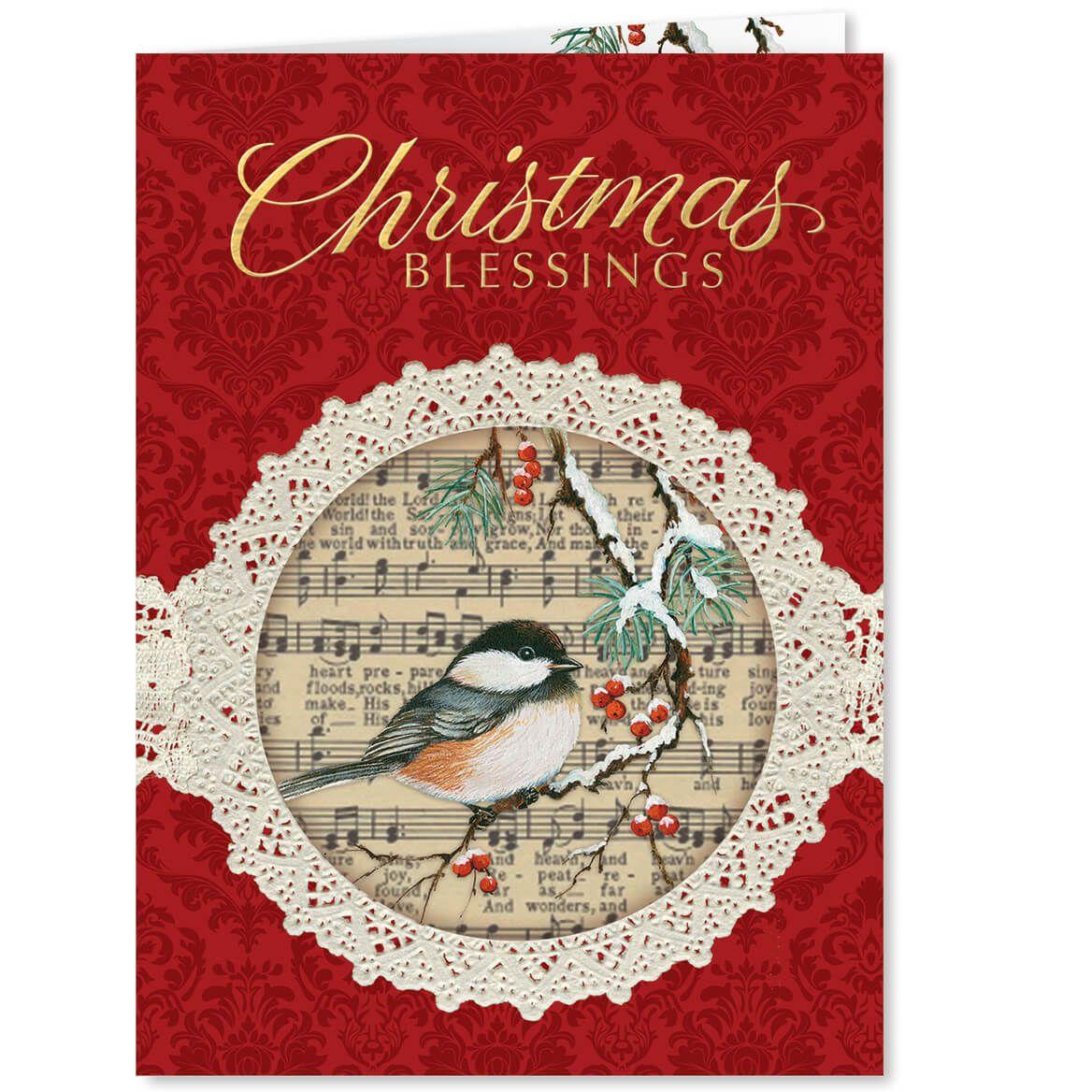 Christmas Chickadee Christmas Card Set of 20-364040