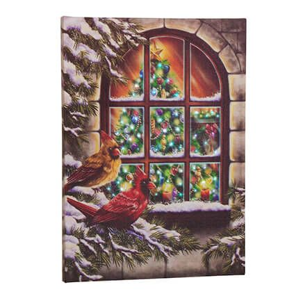 Treasured Friends Lighted Canvas by Holiday Peak™-364125