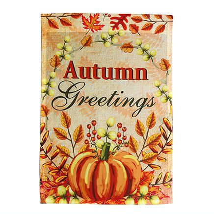 Autumn Greetings Garden Flag-364135
