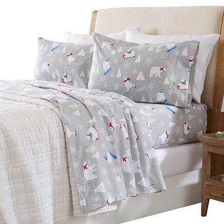 Print Flannel Sheet Set-364178