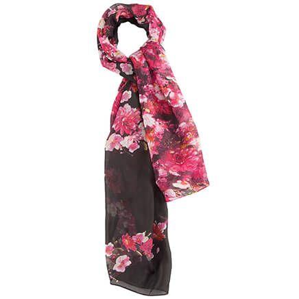Black Floral Fashion Scarf-364201